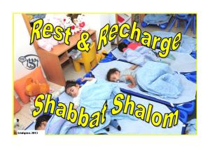 Rest & Recharge Shabbat Shalom