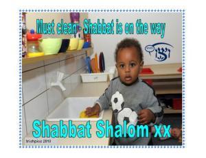 Shabbat clean