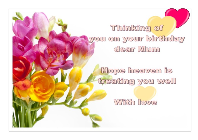 Letter to Mum in Heaven
